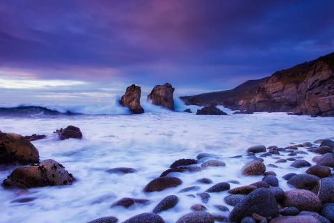 Seascape Canvas Framed Wall Art - Boulder Bay