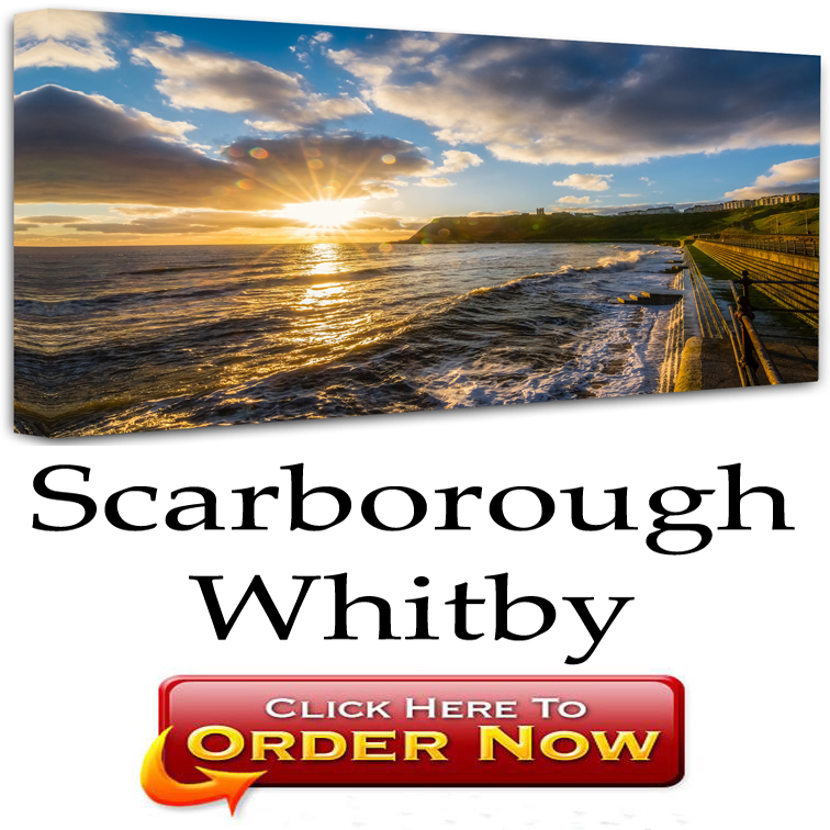 Scarborough and Whitby Wall Art Canvas Prints